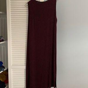 Maroon mid length dress